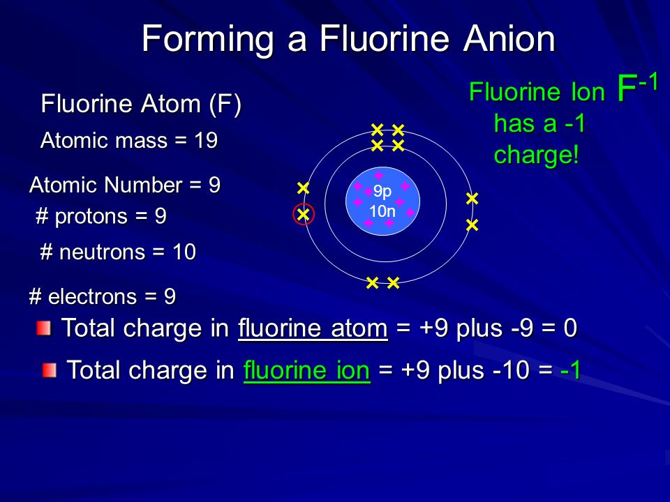 Forming a Magnesium Cation The neutral magnesium atom Mg has Atomic mass=24 Atomic number=12 12 protons 12 neutrons 12 electrons Total charge on magnesium atom=0 A magnesium ion is formed by losing 2 valence electrons.