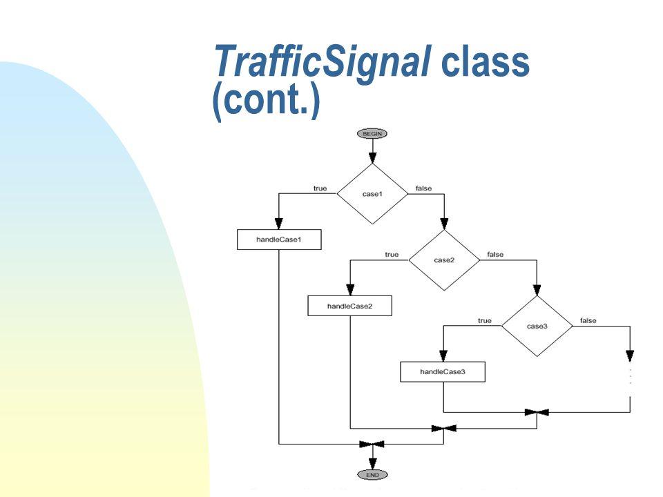 TrafficSignal class (cont.)