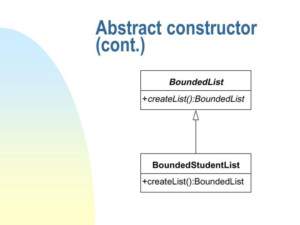 Abstract constructor (cont.)