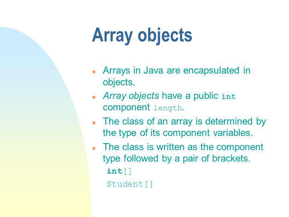 BoundedList (cont.) The methods add (and remove ) shuffle a portion of the array up or down.