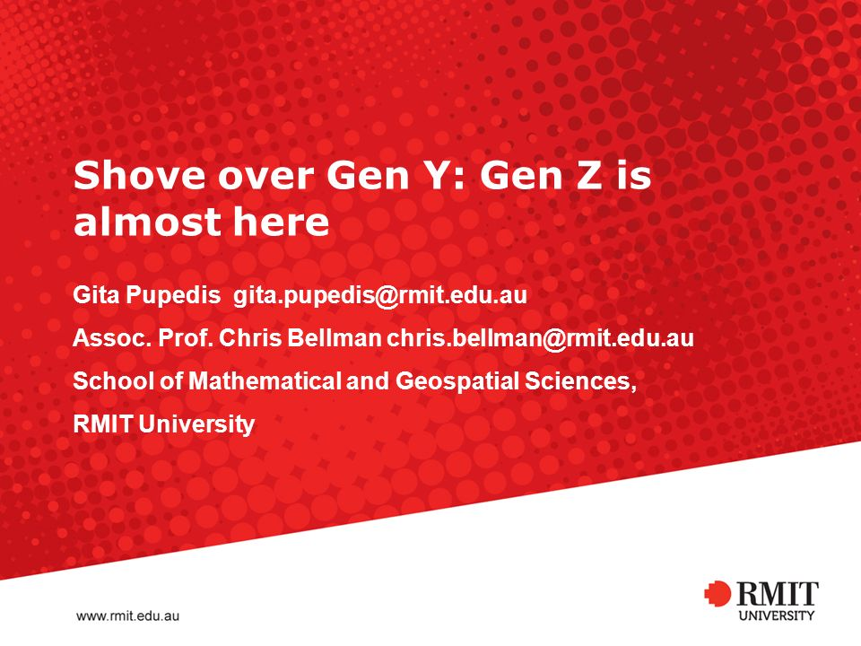 RMIT University Influences when selecting program of study Year 1Year 4 Influence123 123 Family911 612 Career or employment prospects 311 431 Work experience320Careers advisor/teacher430 RMIT Open Day213Career/study expo320 Members of the profession 141Course brochure213 Careers advisor/teacher 123Members of the profession 212