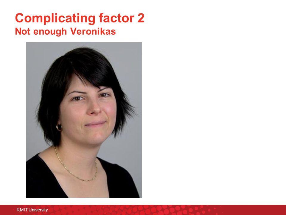 RMIT University Complicating factor 2 Not enough Veronikas