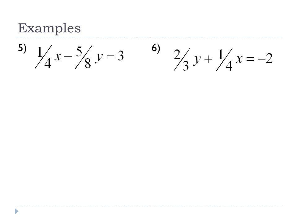 Slope-Intercept Form y=mx+b m = slope (rise/run) b = y-intercept (where line crosses y-axis) y = -4x + 3 m=____b=____ y = -x – 7 m=____b=____ y = 3 + ¾x m=____b=____ y - 6 = ½x m=____b=____ m= -3 b= ¼ slope-int form:_____________