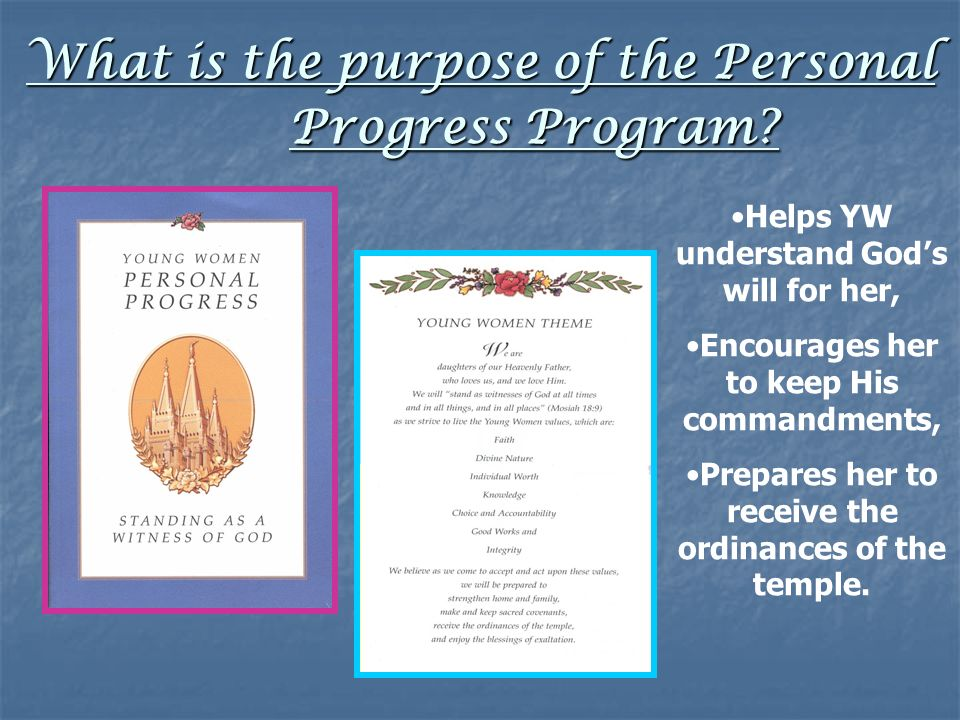 What is the purpose of the Personal Progress Program.