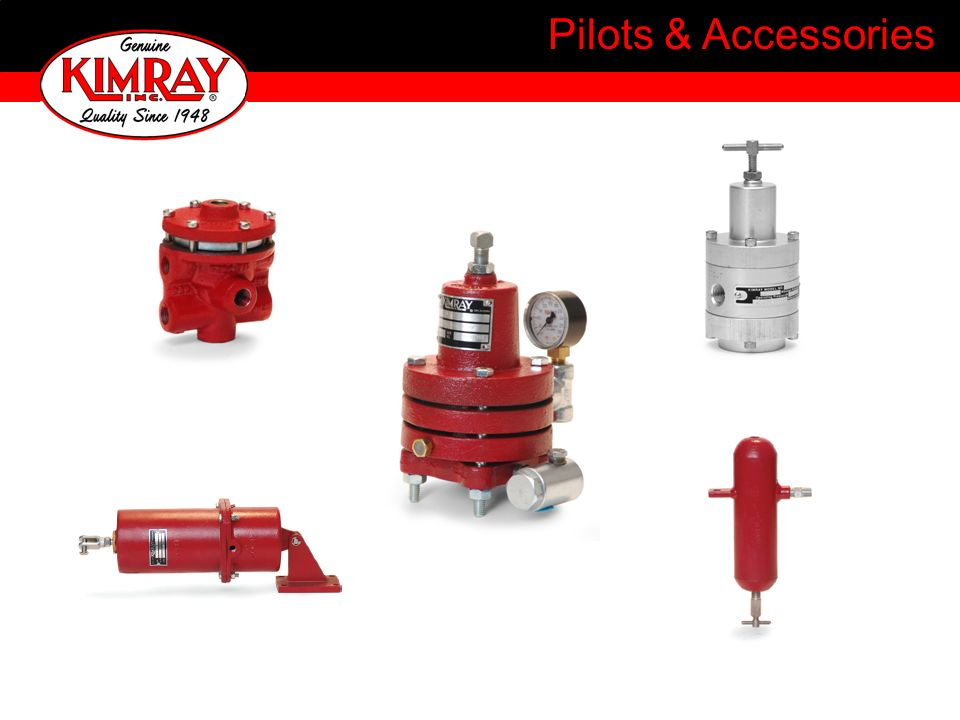 3 PGM Manual Reset Pilot Monitors output of a 3-way valve (pilot) Blocks supply and vents output when a preset limit is exceeded Supply Output 3-way valve or pilot Direct