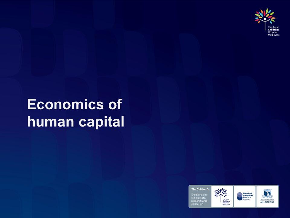 Economics of human capital