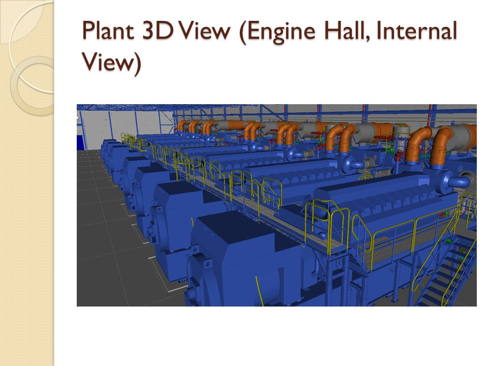 Plant 3D View (Engine Hall, Internal View)