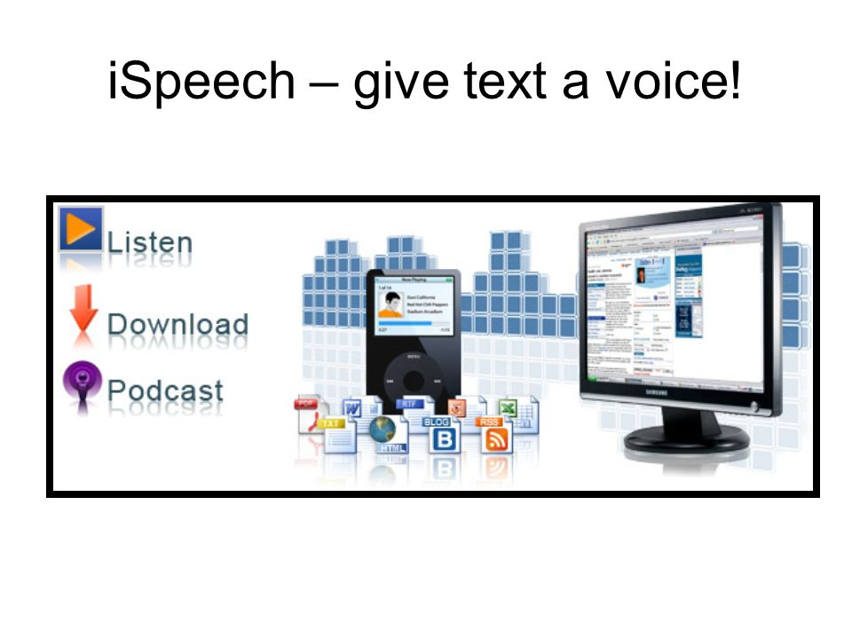 iSpeech – give text a voice!