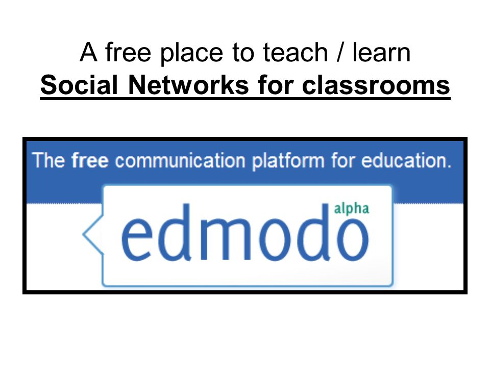 A free place to teach / learn Social Networks for classrooms