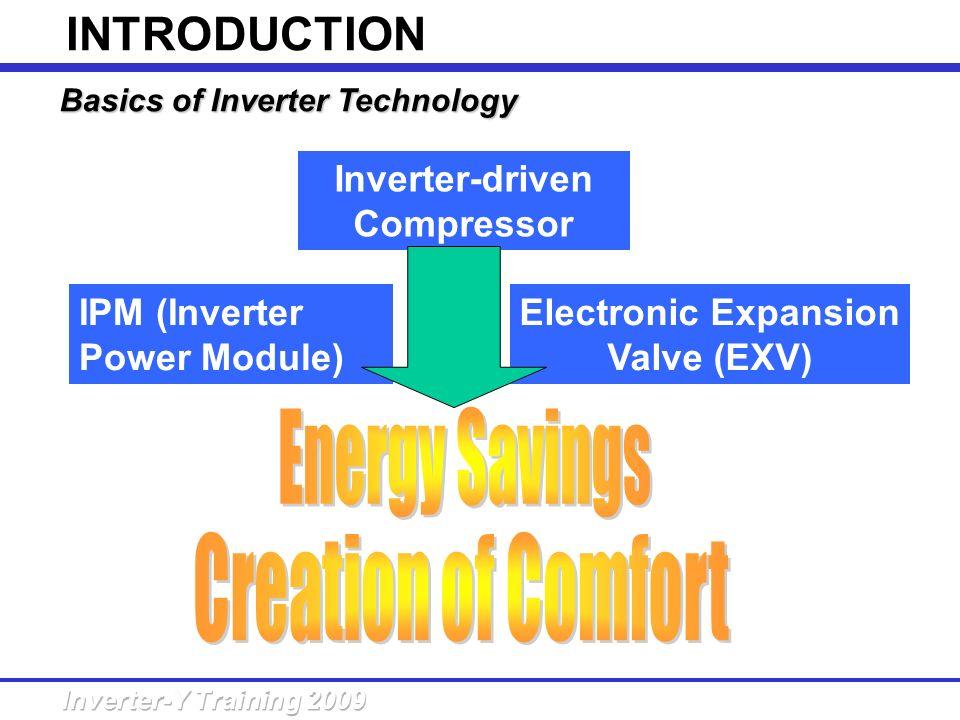 Basics of Inverter Technology Inverter-driven Compressor Electronic Expansion Valve (EXV) IPM (Inverter Power Module) INTRODUCTION