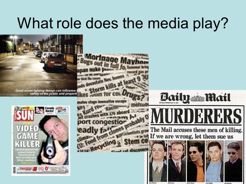 What role does the media play?