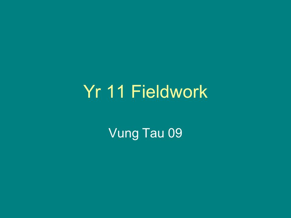 Yr 11 Fieldwork Vung Tau 09