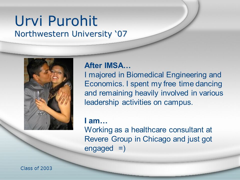 Class of 2003 Angel Qin I just finished my first year at Case Western Reserve University School of Medicine.