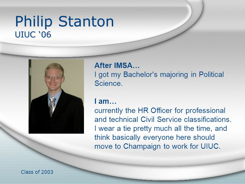 Class of 2003 Harrison Stein B.S.07, CalTech After IMSA… I participated in 2 pranks on MIT.