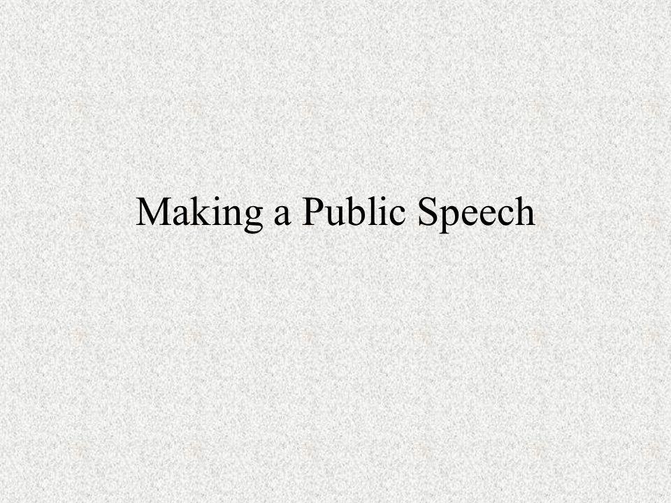 Making a Public Speech