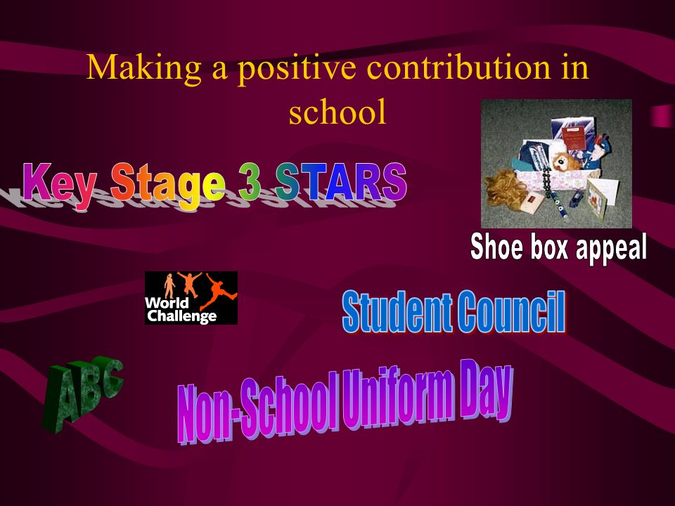 Making a positive contribution in school