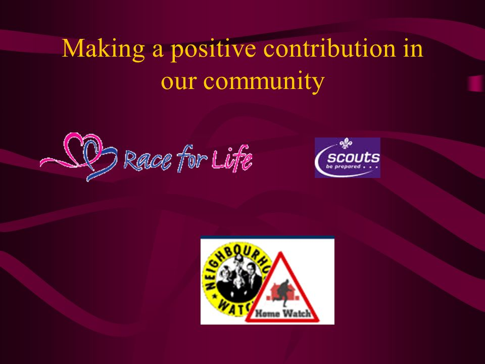 Making a positive contribution in our community