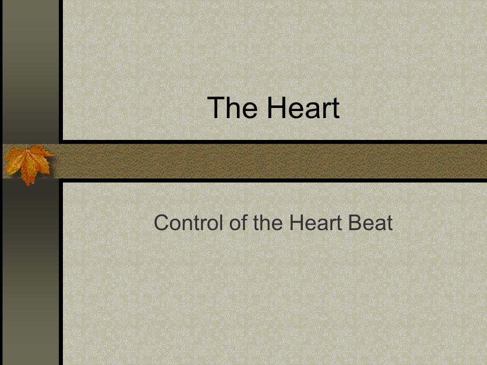 The Heart Control of the Heart Beat