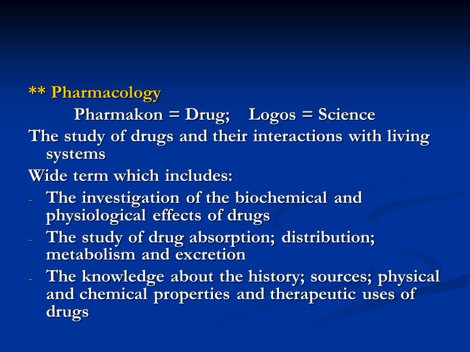 ** Drug - A chemical substance that is primarily used to reverse a pathophysiological defect = disease = Virtually all chemicals may be drugs = All drugs are toxins but not all toxins are drugs