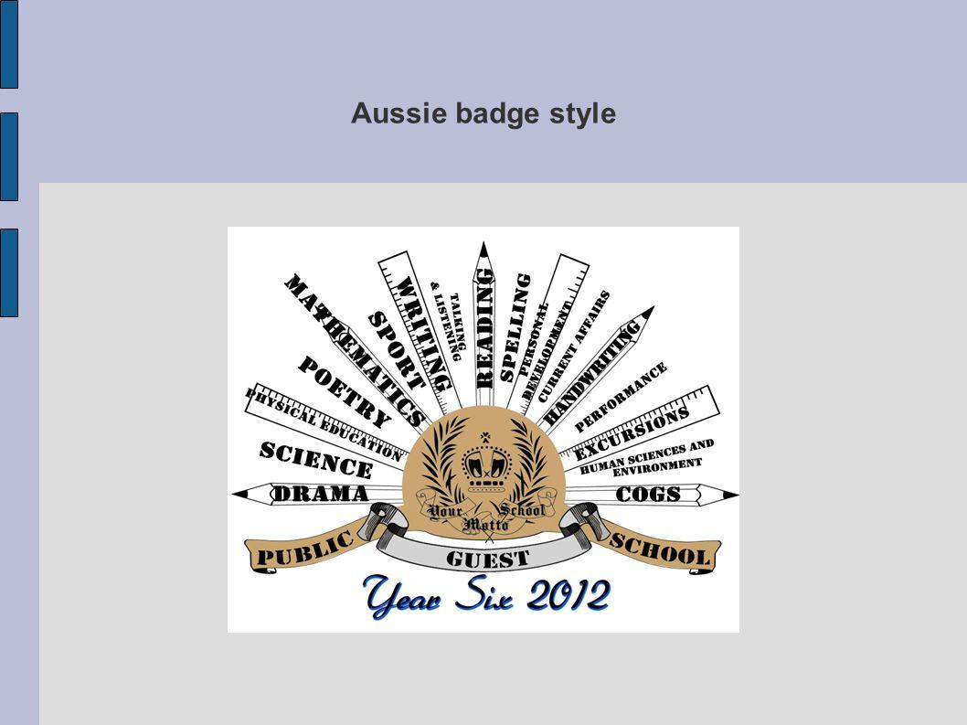 Aussie badge style