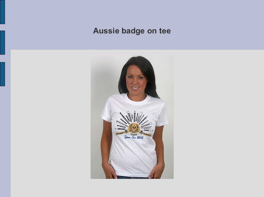 Aussie badge on tee