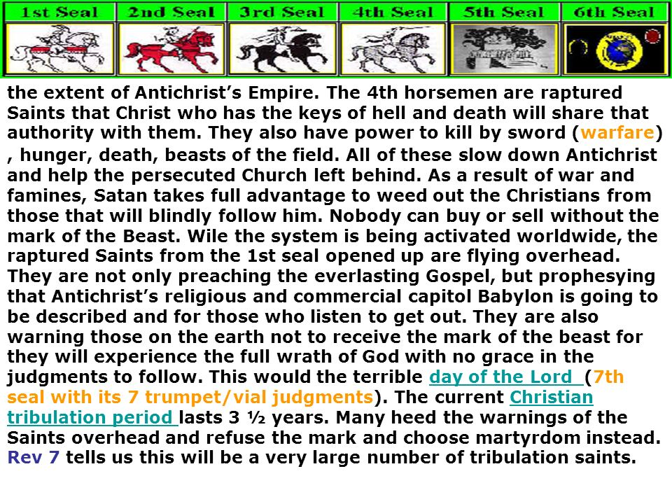 the extent of Antichrists Empire. The 4th horsemen are raptured Saints that Christ who has the keys of hell and death will share that authority with t