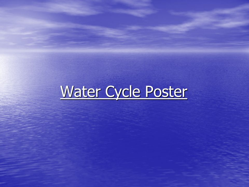 Water Cycle Poster