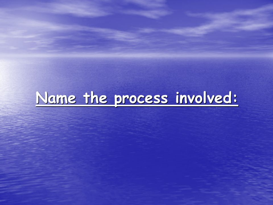 Name the process involved: