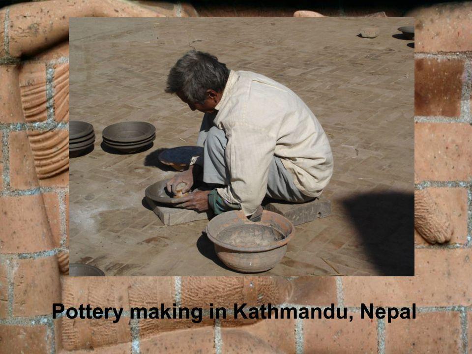 Pottery making in Kathmandu, Nepal