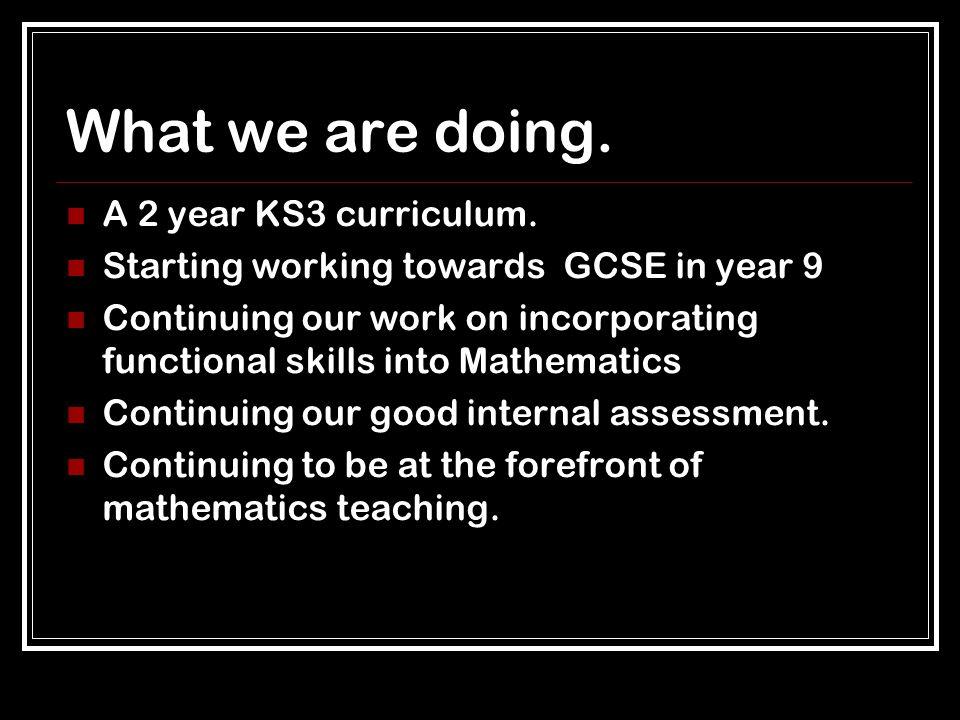 A 2 year KS3 curriculum.