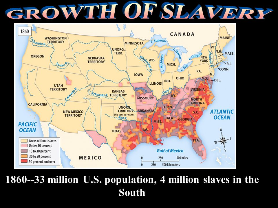 Trial of tears 1830-Total U.S. population was 18 million 2 million slaves in the U.S. at this time. 1808, importation of slaves was illegal Slave trad