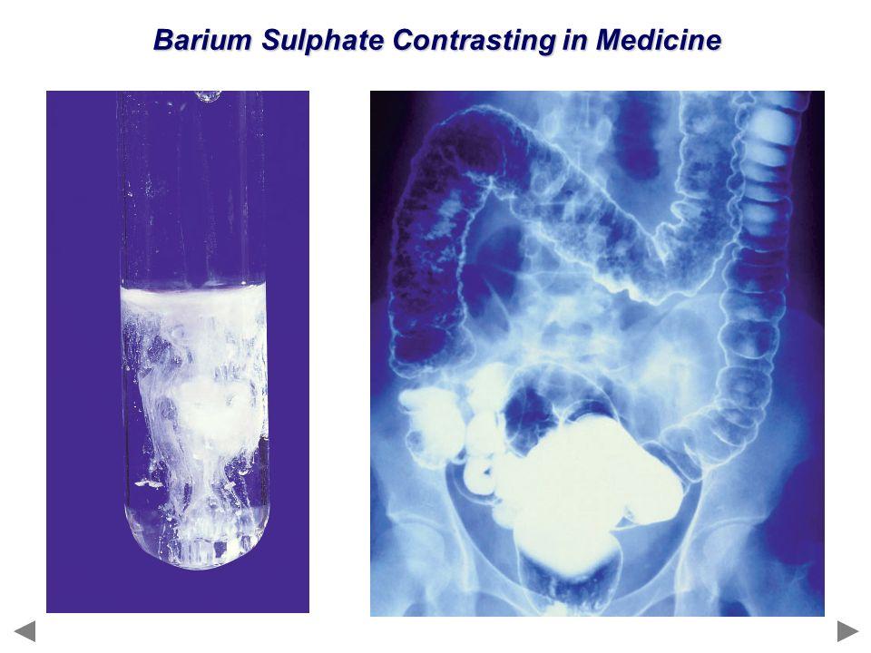 Barium Sulphate Contrasting in Medicine