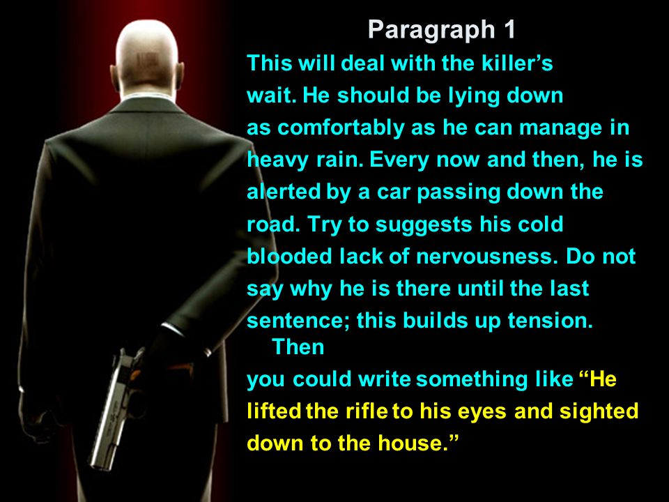 Paragraph 2 This paragraph will deal with a description of the house and its immediate surroundings.