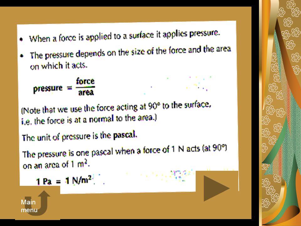 Calculating pressure
