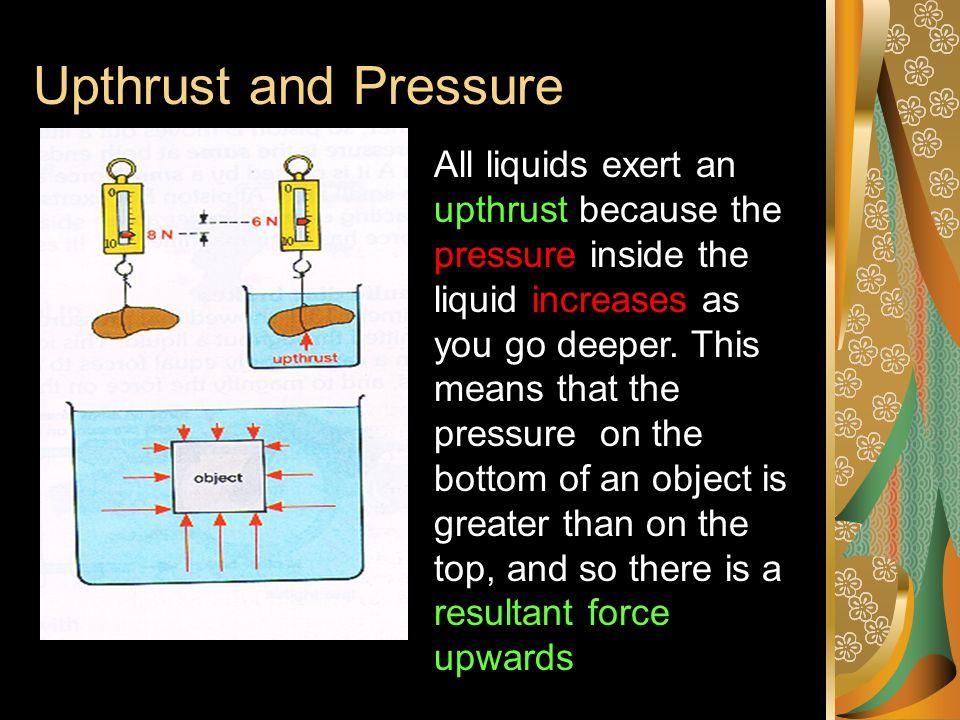 Calculating pressure at depth Pressure = 10 x depth x density (N/m 2 ) ( N/kg) (m) (kg/m 3 ) The hydrometer This is used to measure the density of mil