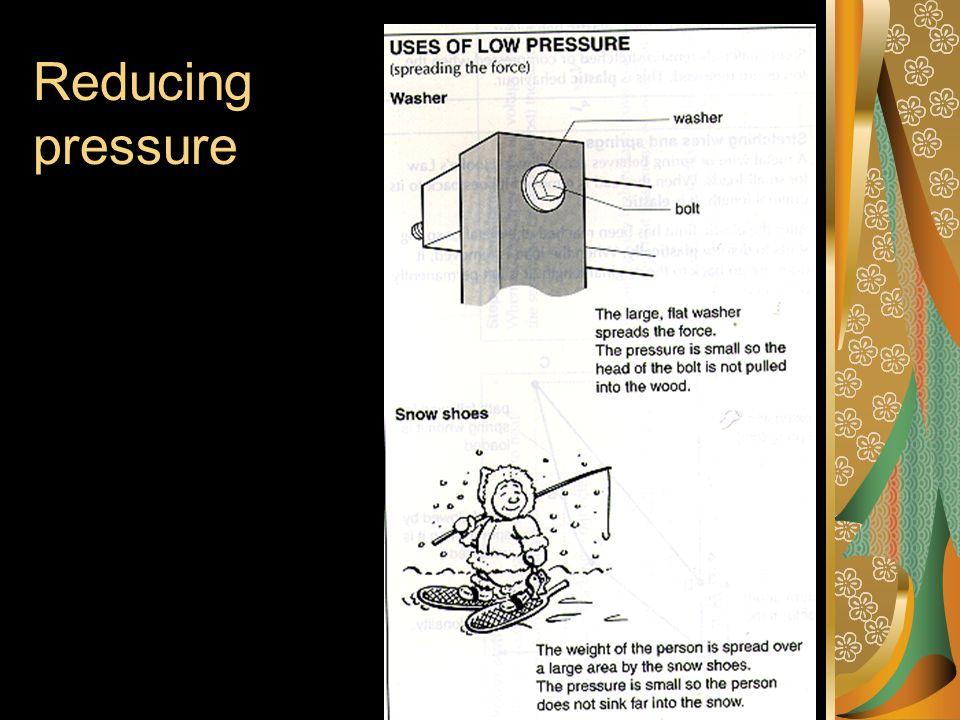 Increasing pressure