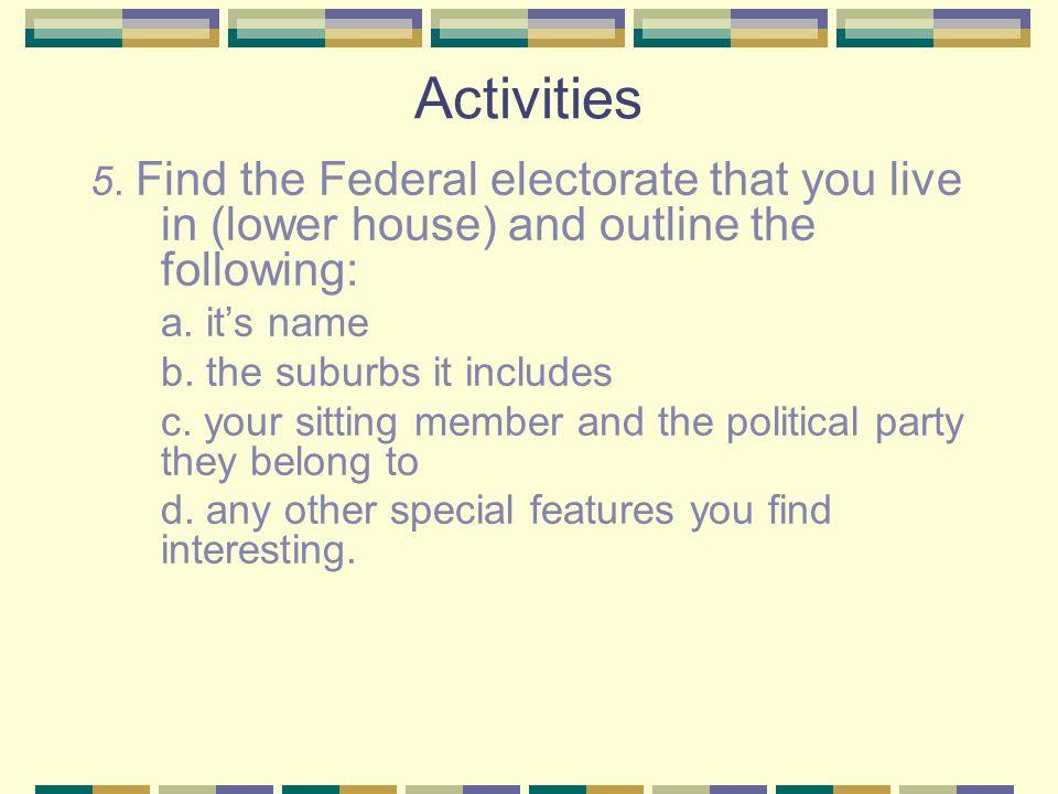Activities 5.