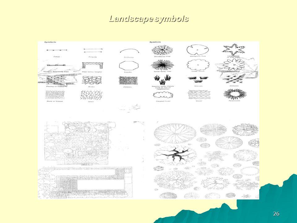 Landscape symbols 26