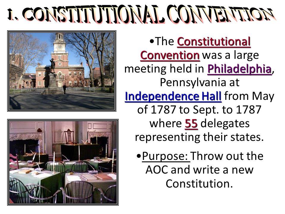 Constitutional Convention Philadelphia Independence Hall 55The Constitutional Convention was a large meeting held in Philadelphia, Pennsylvania at Ind