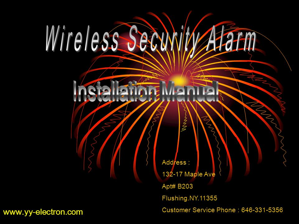 www.yy-electron.com Address : 132-17 Maple Ave Apt# B203 Flushing.NY.11355 Customer Service Phone : 646-331-5356