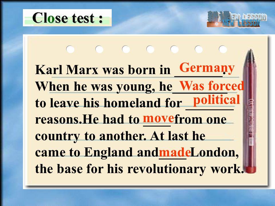Karl Marx was born in _______.
