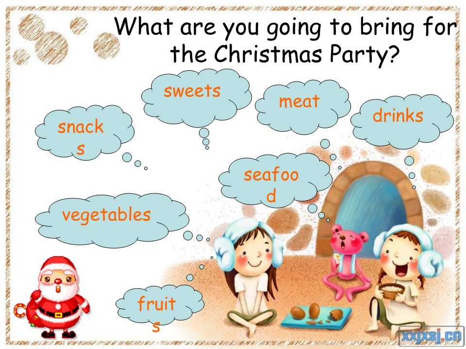 What are you going to bring for the Christmas Party.