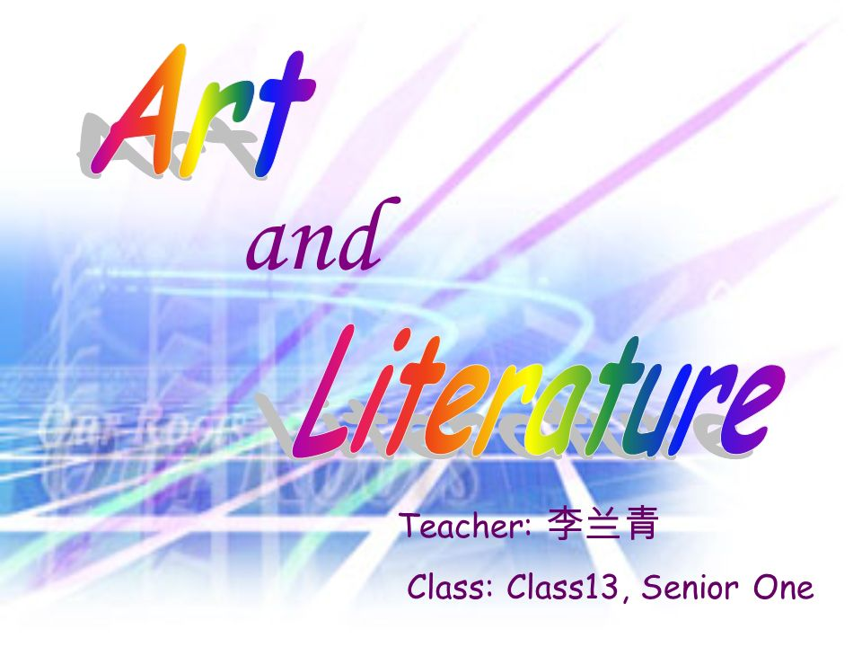 and Teacher: Class: Class13, Senior One