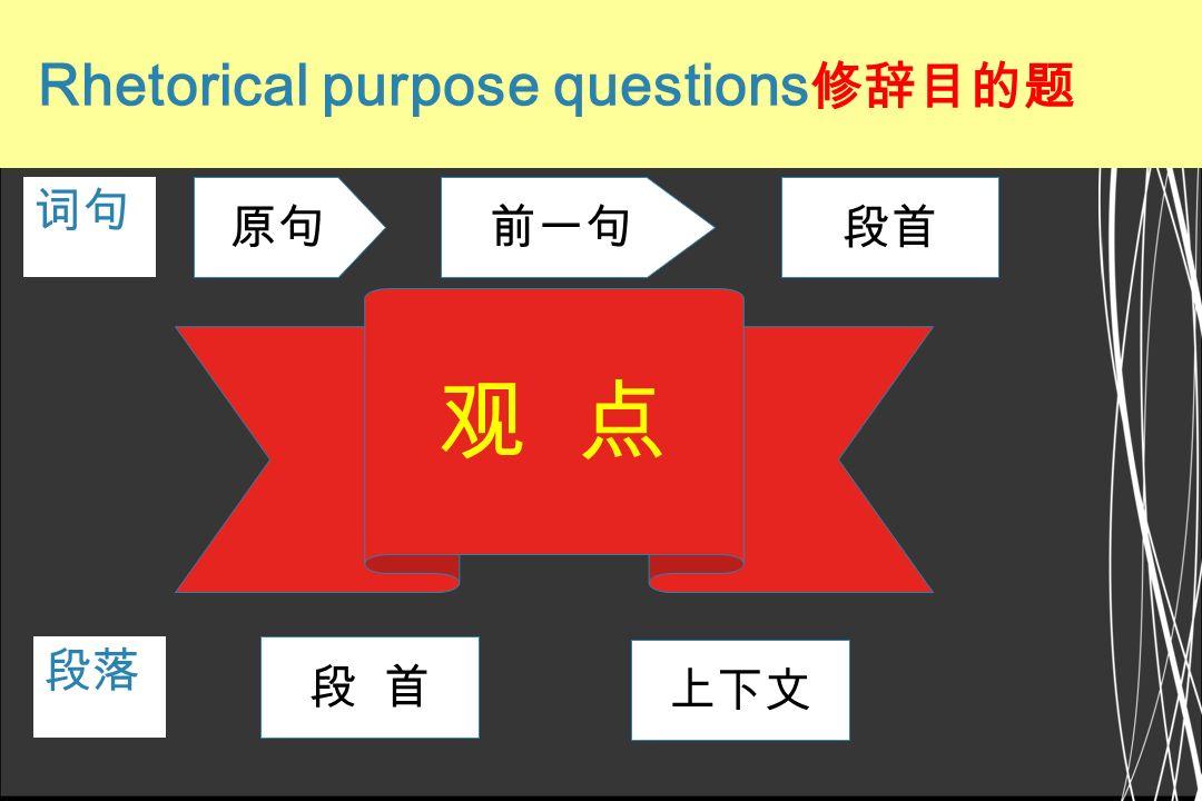 1.5 Rhetorical purpose questions