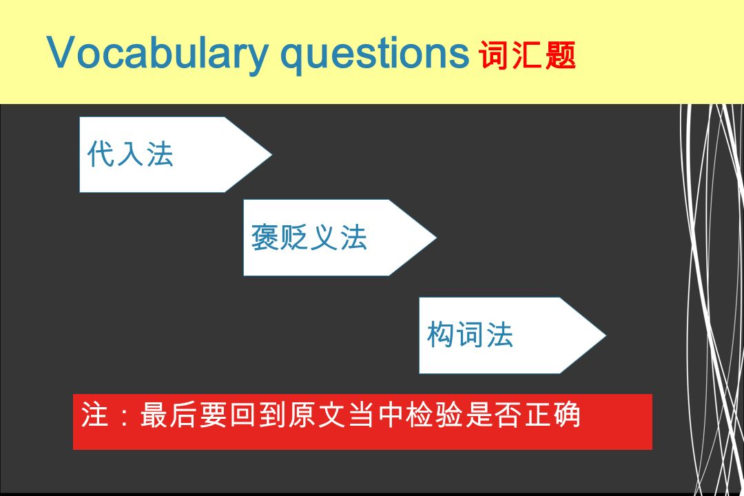 Vocabulary questions