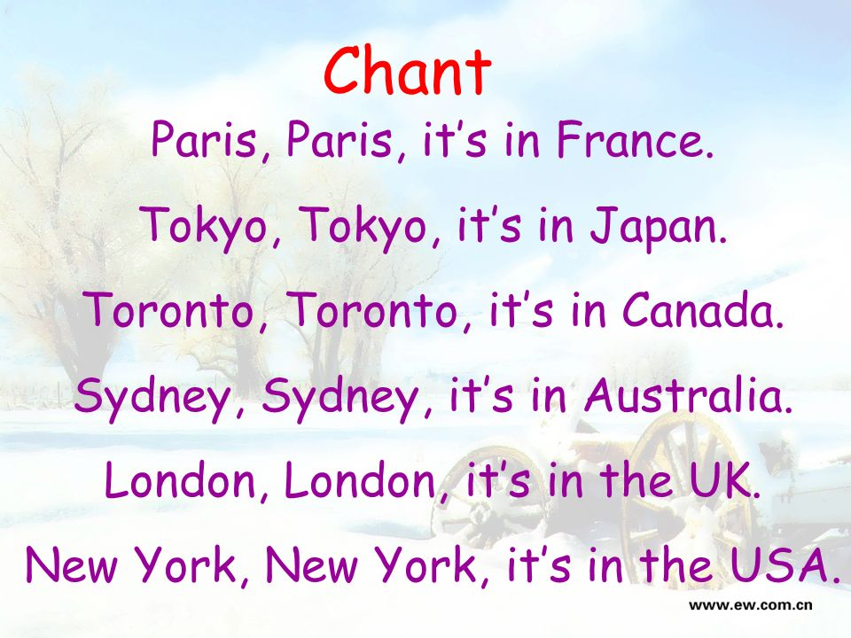 New York Do you know the cities in these countries