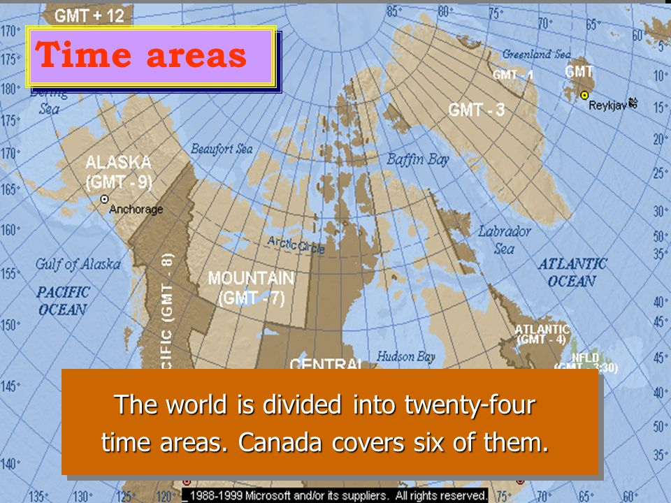 Canada's weather is different from area to area, and it ranges from the extreme cold of the Arctic regions to the moderate temperatures of the south.