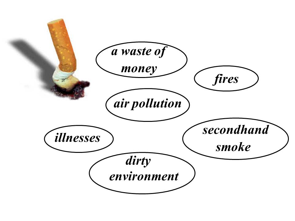 illnesses a waste of money air pollution secondhand smoke fires dirty environment