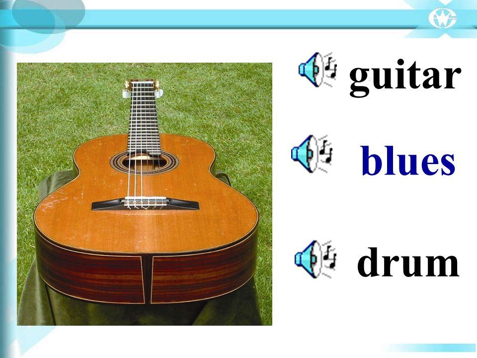 guitar blues drum