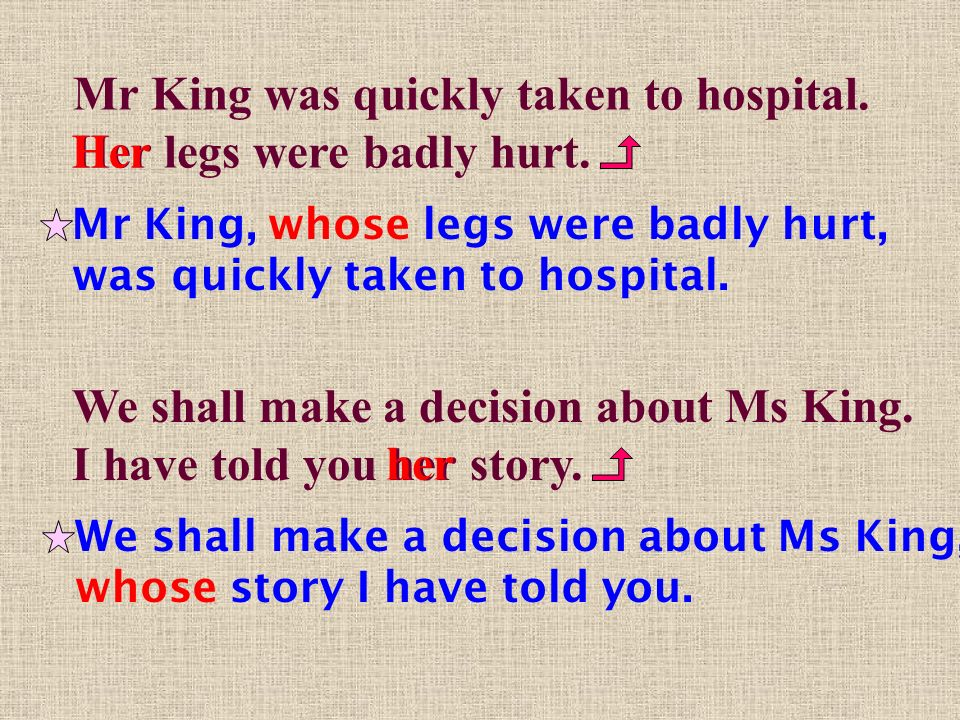 Mr King, whose legs were badly hurt, was quickly taken to hospital.